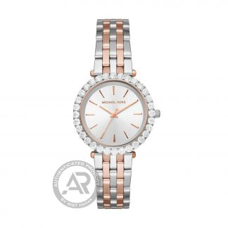 Michael Kors Darci Two Tone Stainless Steel Bezel with Crystals MK4515