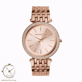 Michael Kors Darci Rose Gold Stainless Steel Bezel with Crystals MK3192