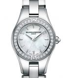 Baume and Mercier Linea Stainless Steel Watch Diamonds ΜΟΑ10013