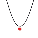 Very Gavello Hearts Pendant 9k Rose Gold Red Essenza