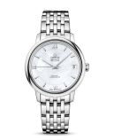 DE VILLE PRESTIGE CO‑AXIAL 32.7 MM STAINLESS STEEL BRACELET MOTHER OF PEARL DIAL